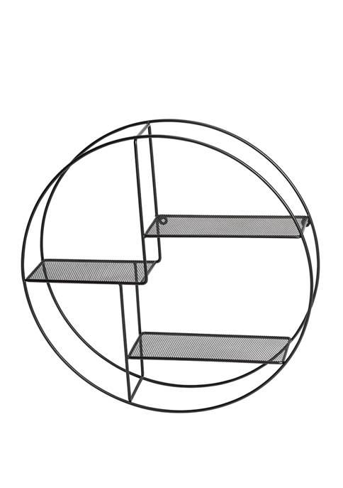 Rustic Circular Wall Shelf