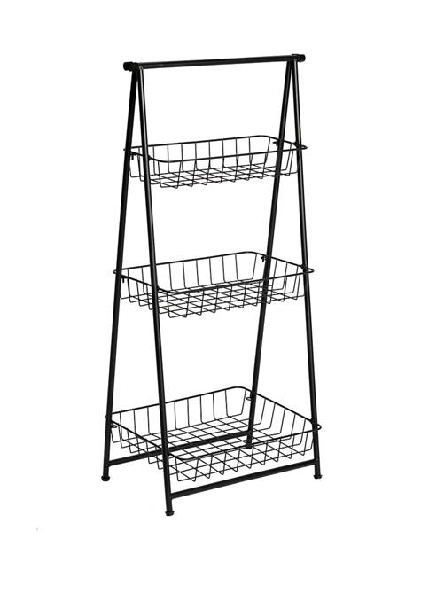 Honey-Can-Do 3 Tier Folding A Frame Entryway Shelf
