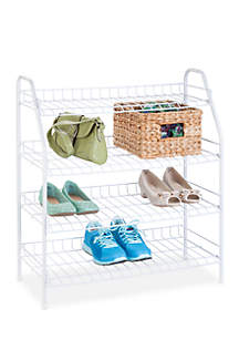 4-Tier Wire Shoe Shelf