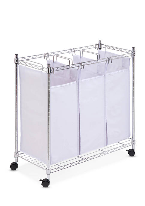 Honey-Can-Do Chrome Rolling Urban Triple Sorter