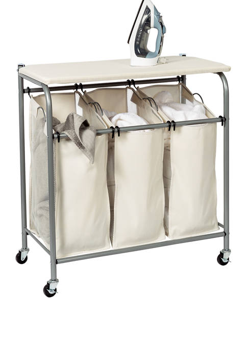 Honey-Can-Do Triple Sorter With Ironing Board
