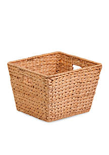 Honey-Can-Do Large Square Water Hyacinth Basket