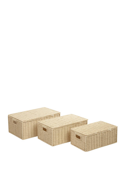 Honey-Can-Do Paper Cord Basket Set