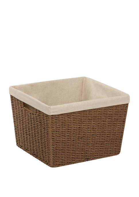Parchment Cord Basket with Liner