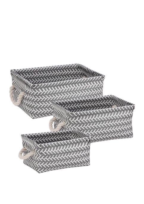 Honey-Can-Do Zig Zag Baskets