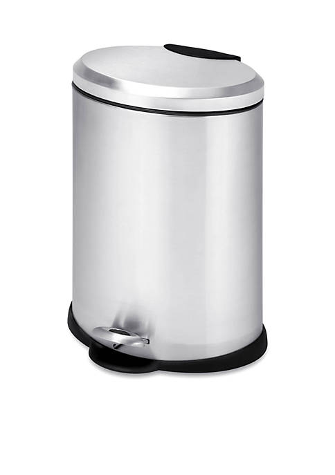 Oval Stainless Steel Step Trash Can