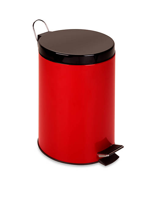 Honey-Can-Do Steel Step Trash Can