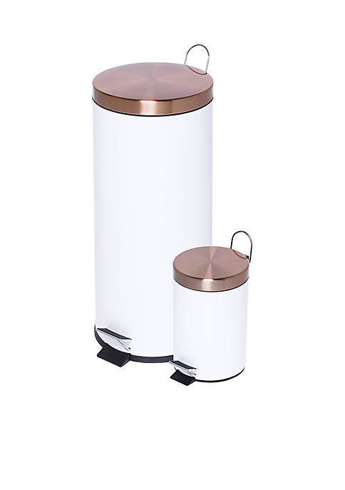 Honey-Can-Do Round Soft-Close Trash Can Combo
