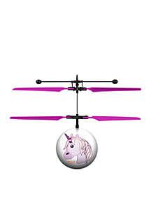 Unicorn Emoji IR UFO Ball Helicopter