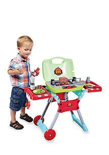 World Tech Toys Kid's BBQ 20 Piece Portable Playset with Light and Sound