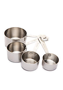 Brushed Stainless 4-Piece Measuring Cup Set