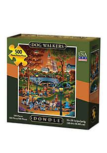 DOWDLE PUZZLES Dog Walkers 500 Piece Puzzle