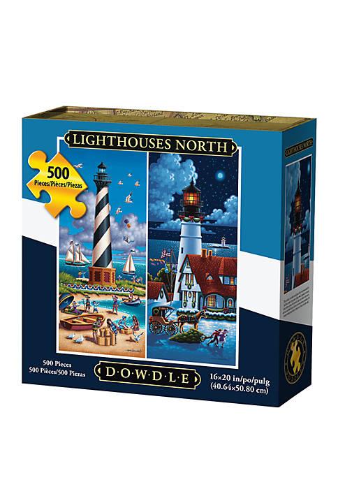 DOWDLE PUZZLES Lighthouses North 500 Piece Puzzle