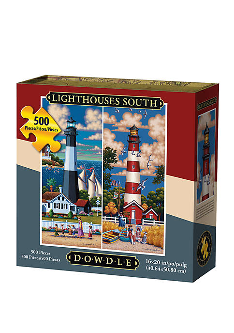 DOWDLE PUZZLES Lighthouses South 500 Piece Puzzle