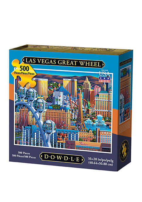 DOWDLE PUZZLES Las Vegas Great Wheel 500 Piece