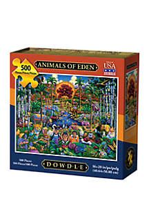 DOWDLE PUZZLES Animals of Eden 500 Piece Puzzle