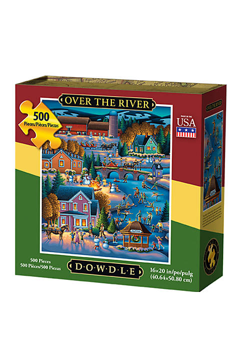 DOWDLE PUZZLES Over the River 500 Piece Puzzle