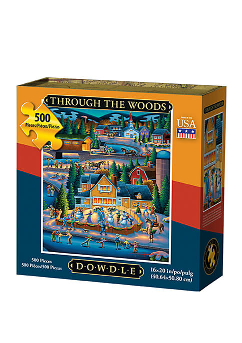 DOWDLE PUZZLES Through the Woods 500 Piece Puzzle