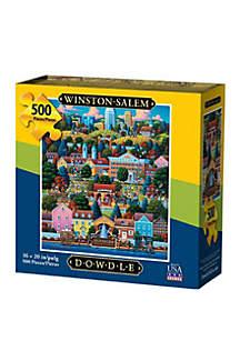 DOWDLE PUZZLES Winston Salem 500 Piece Puzzle