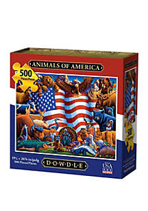 DOWDLE PUZZLES Animals of America 500 Piece Puzzle