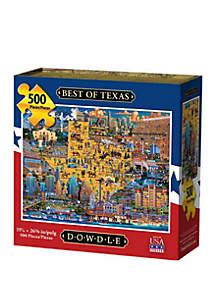 DOWDLE PUZZLES Best of Texas 500 Piece Puzzle