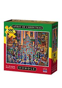 DOWDLE PUZZLES Spirit of Christmas 500 Piece Puzzle