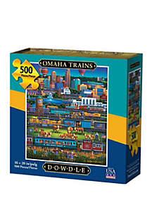 DOWDLE PUZZLES Omaha Trains 500 Piece Puzzle