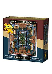 DOWDLE PUZZLES Williamsburg Quilt 1000 Piece Puzzle