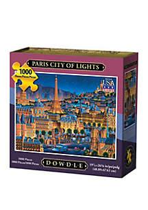DOWDLE PUZZLES Paris City of Lights 1000 Piece Puzzle
