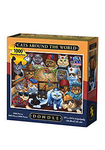 DOWDLE PUZZLES Cats Around the World 1000 Piece Puzzle