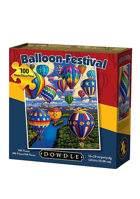 DOWDLE PUZZLES Balloon Festival 100 Piece Puzzle
