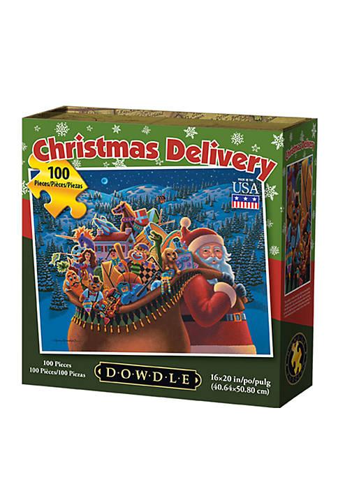 DOWDLE PUZZLES Christmas Delivery 100 Piece Puzzle