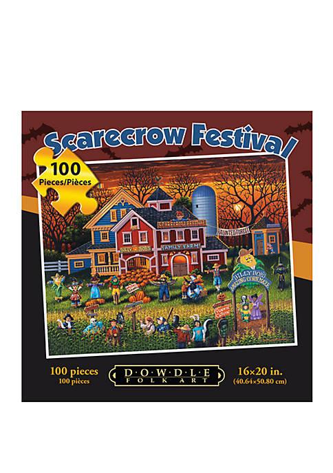 DOWDLE PUZZLES Scarecrow Festival 100 Piece Puzzle