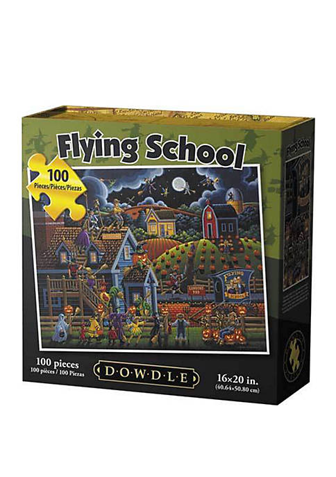 DOWDLE PUZZLES Flying School 100 Piece Puzzle