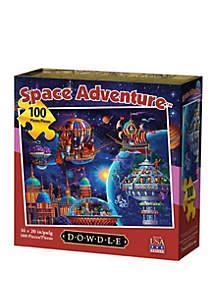 DOWDLE PUZZLES Space Adventure 100 Piece Puzzle