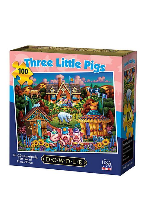 DOWDLE PUZZLES Three Little Pigs 100 Piece Puzzle