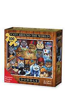 DOWDLE PUZZLES Cats Around the World Puzzle