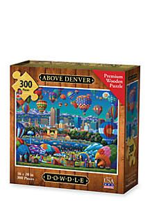 DOWDLE PUZZLES Above Denver - 300 pc Premium Laser Cut Wood Puzzle