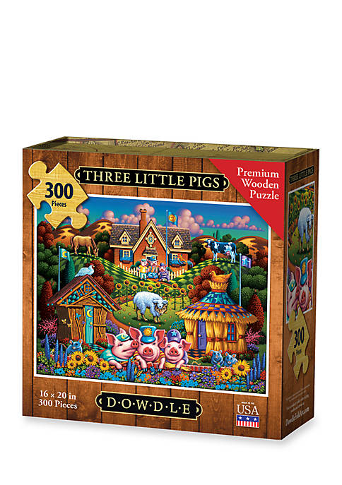DOWDLE PUZZLES Three Little Pigs Puzzle