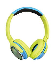 Over Ear, Wireless Headphones- Green/Blue