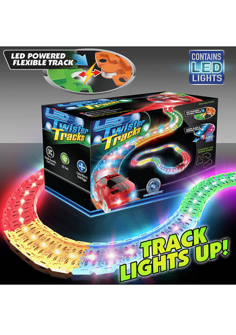 Mindscope Twister Tracks LED Tracks Red Race Car Set