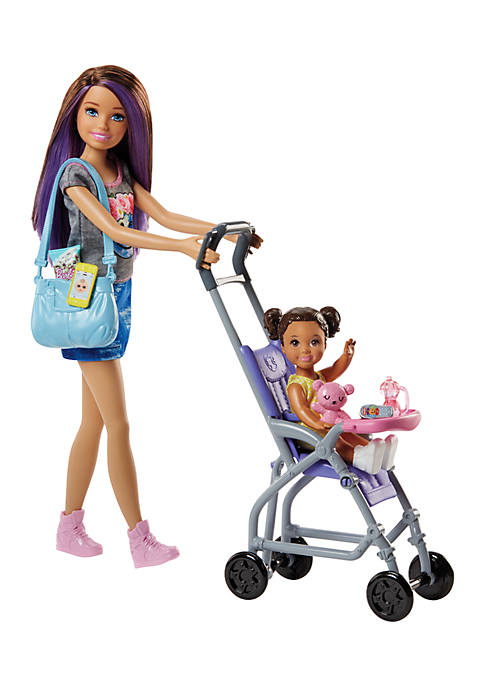 Mattel Barbie Babysitter Playset With Stroller and Diaper