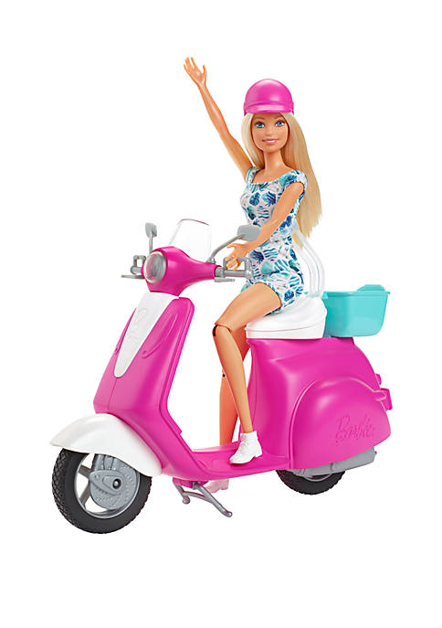 Barbie Doll and Scooter Set