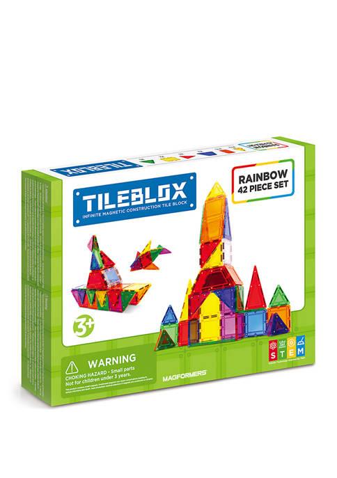 Magformers Tilebox Rainbow 42 Piece Set