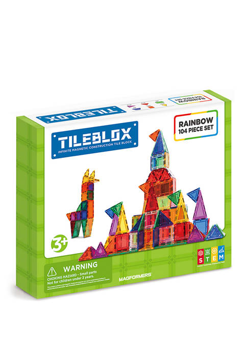 Magformers Tilebox Rainbow 104 Piece Set