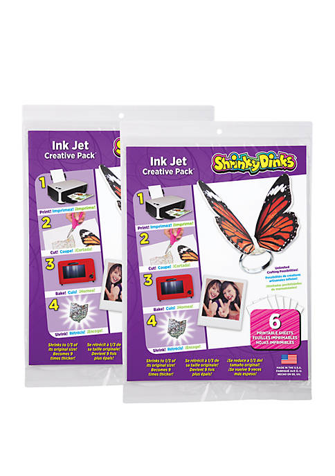 Shrinky Dinks Creative Pack 12 Sheets for Ink Jet Printers