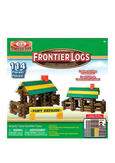 Ideal Frontier Logs 114 Piece Classic Wood Construction