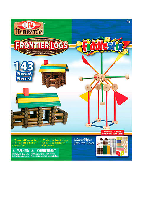 Ideal Frontier Logs and Fiddlestix 143 Piece Classic