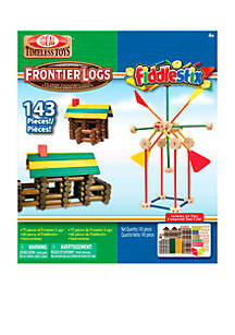 Frontier Logs and Fiddlestix 143 Piece Classic Wood Building Set