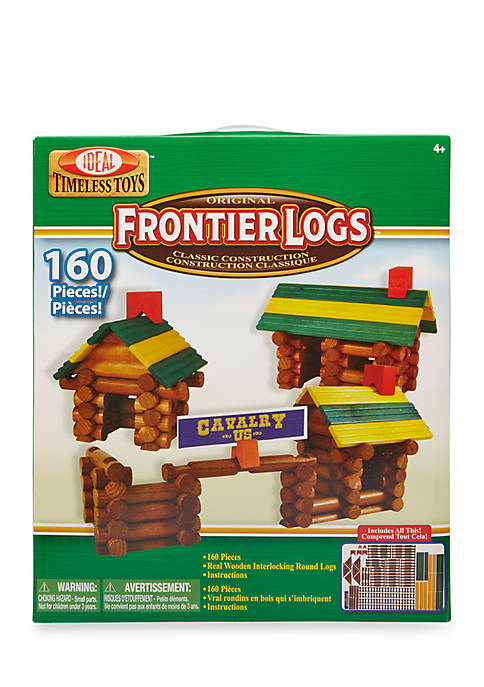 Ideal Frontier Logs 160 Piece Classic Wood Construction